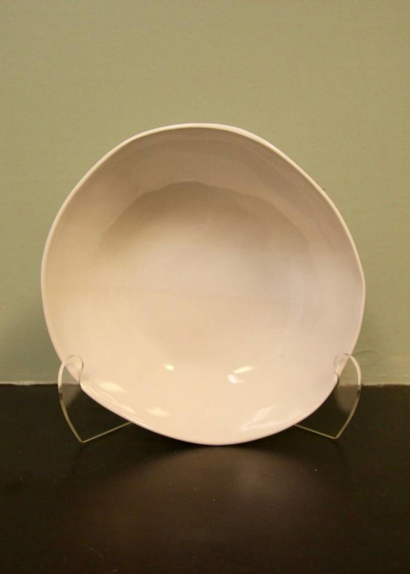 "Alex Marshall Pottery 12"" Round Bowl Gloss White"