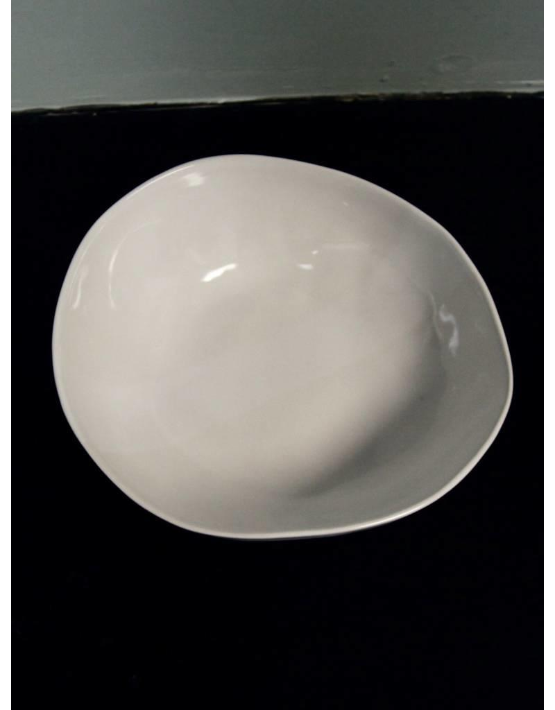 "Alex Marshall Pottery 12"" Round Bowl Gloss White"
