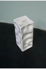 Alex Marshall Pottery Mini Square Ripple Vase Gloss White