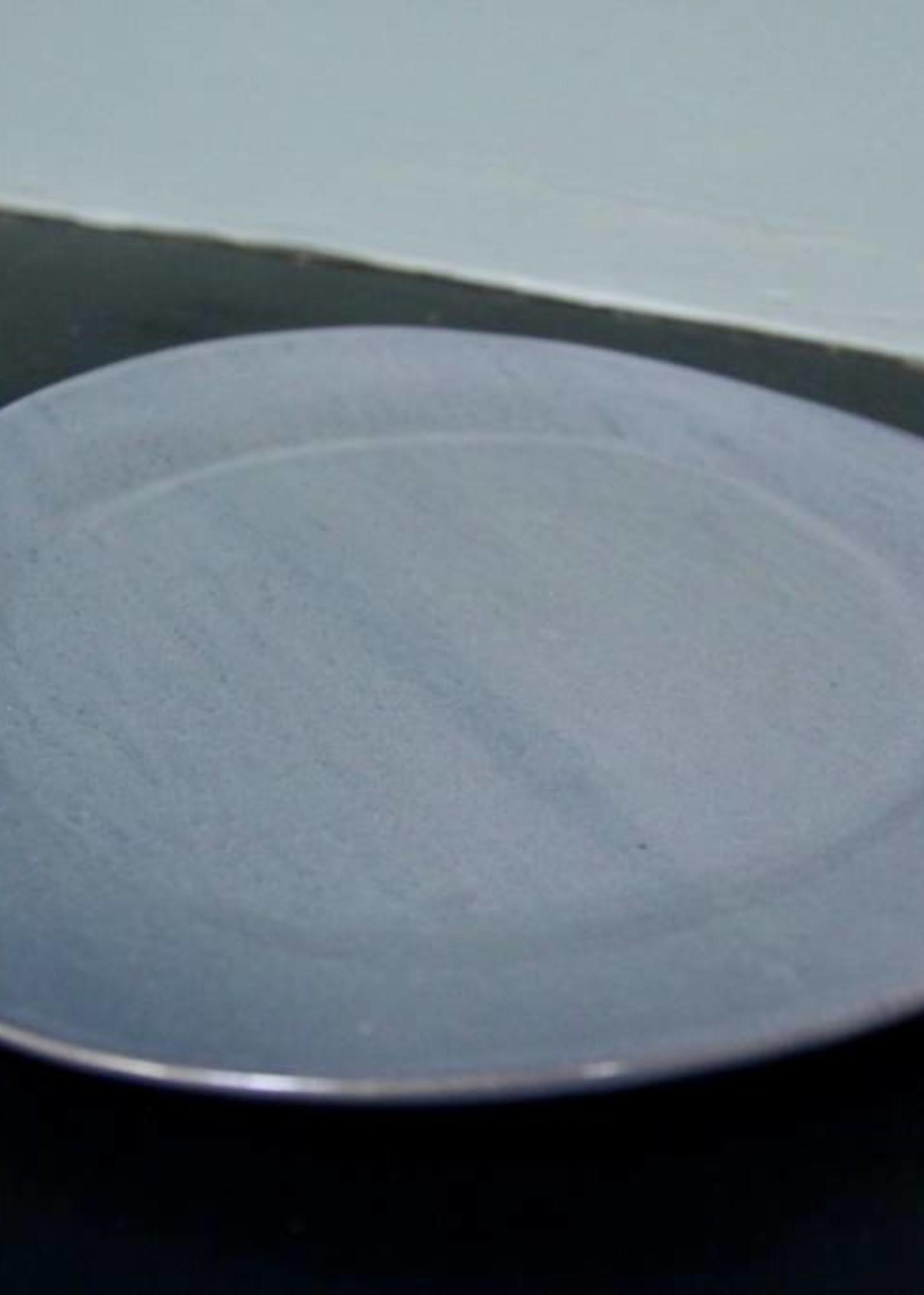 "Alex Marshall Pottery 10.5"" Classic Round Dinner Blue Grey"