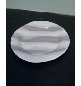 Alex Marshall Pottery Classic Round Side G&W Stripe