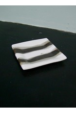 Alex Marshall Pottery Square B&B B&W Stripe