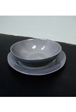 "Alex Marshall Pottery 8.5"" Classic Round Side Blue Grey"