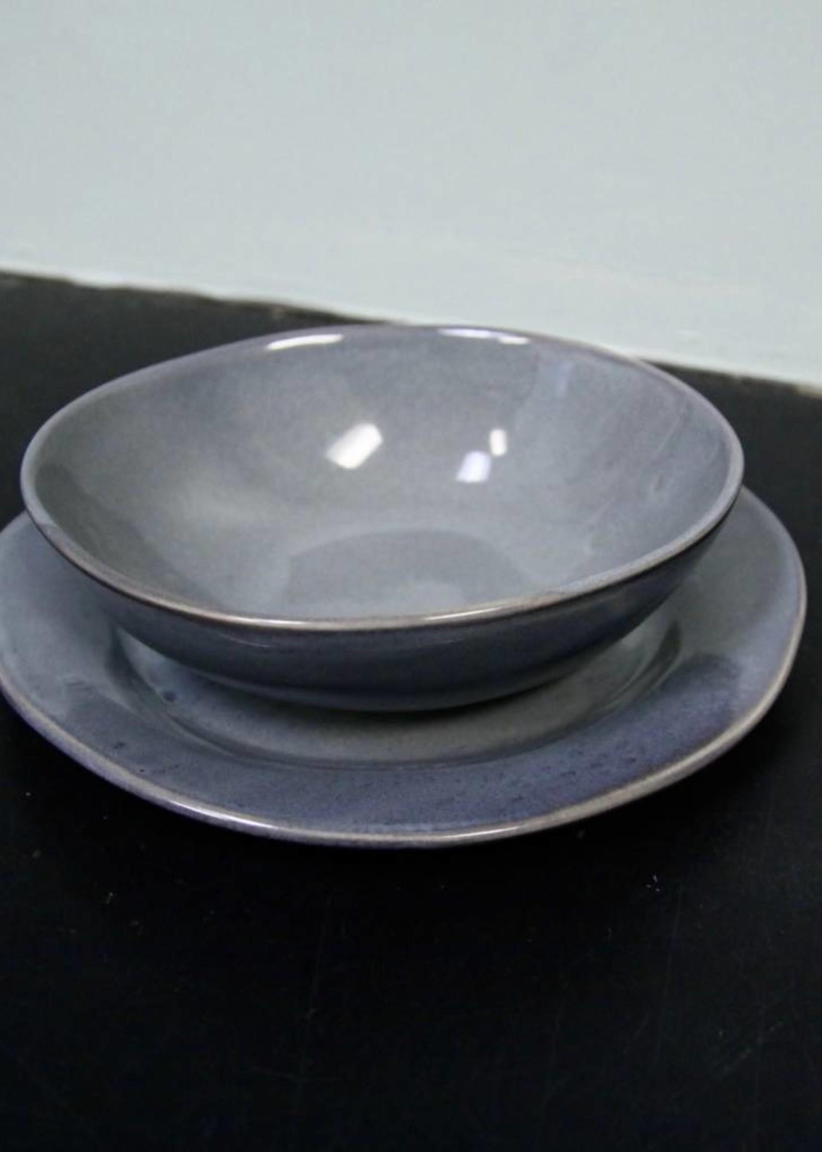 "Alex Marshall Pottery 8.5"" Classic Round Side Blue Grey"