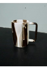 Alex Marshall Pottery Tall Mug B&W Stripe