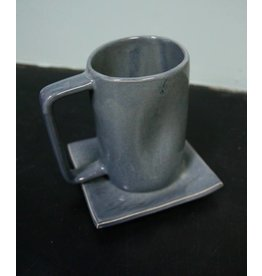 Alex Marshall Pottery Tall Mug Blue Grey