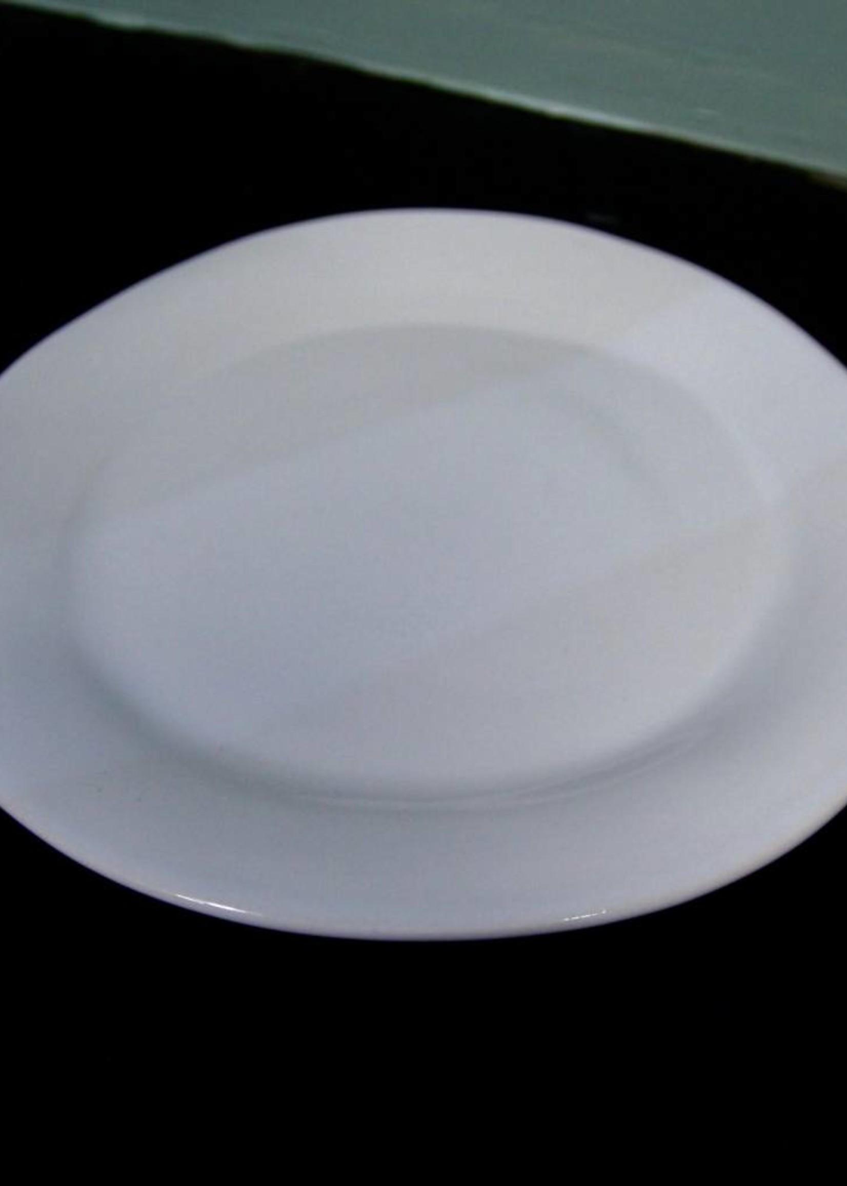 "Alex Marshall Pottery 10.5"" Classic Round Dinner Gloss White"