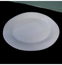 "Alex Marshall Pottery 10.5"" Classic Round Dinner Gloss White"