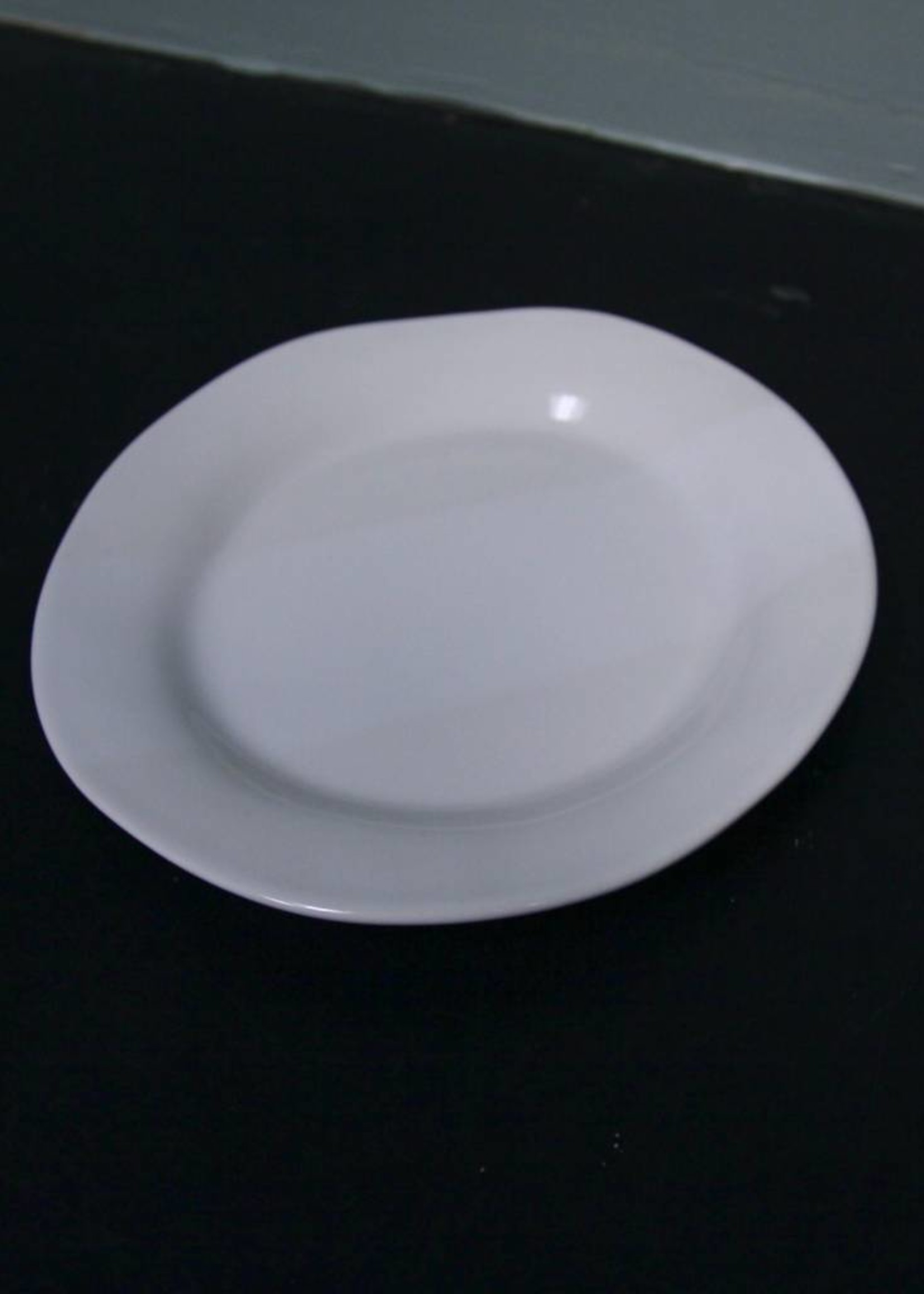 """Alex Marshall Pottery 8.5"""" Classic Round Side Gloss White"""