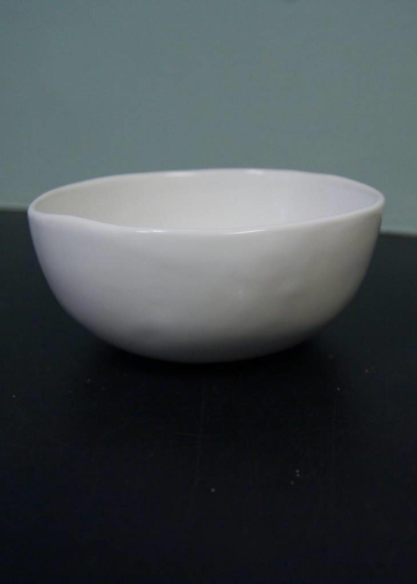"Alex Marshall Pottery 6"" Classic Bowl Gloss White"