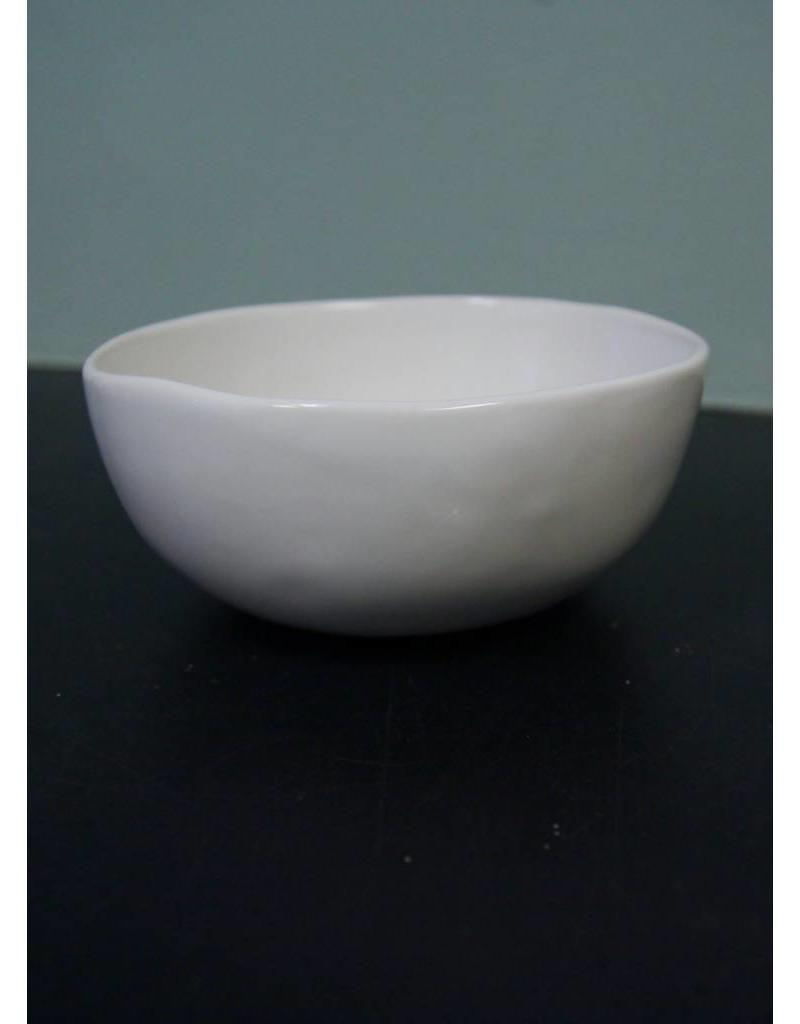 "Alex Marshall Pottery 6"" Classic Bowl Gloss White"