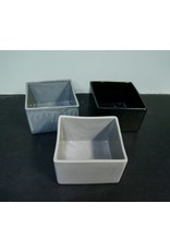 Alex Marshall Pottery Mini Square Vase Gloss Black