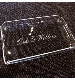 Oak & Willow Custom Engraved Serving Tray