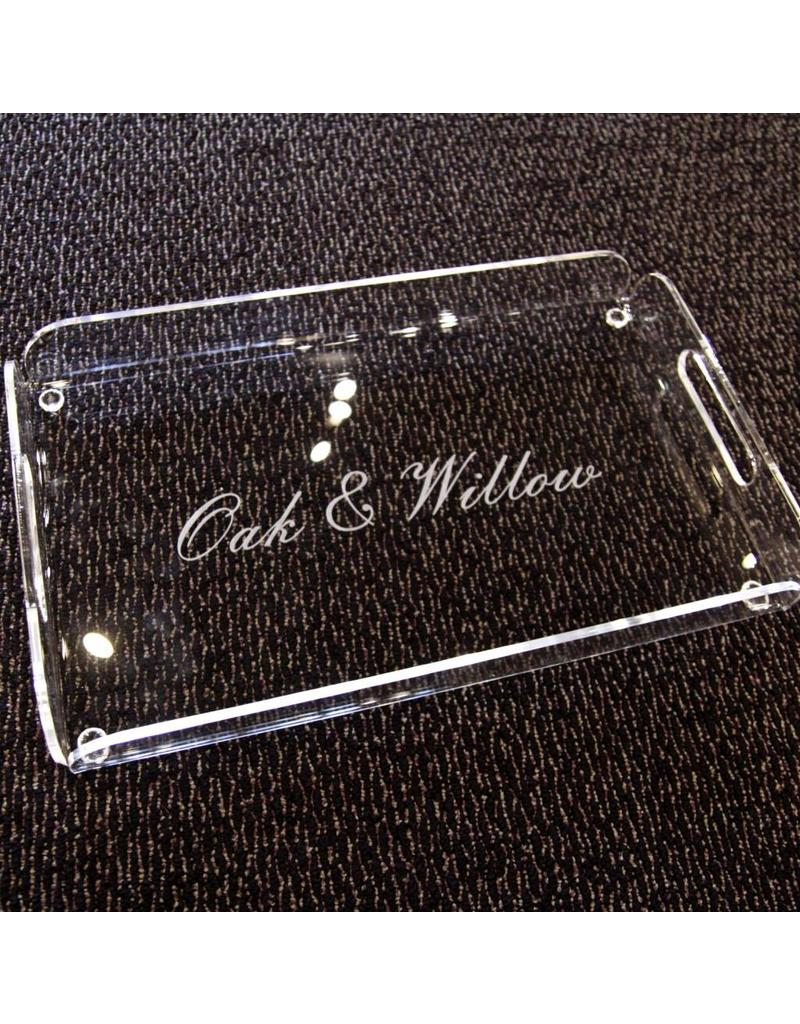 Oak & Willow Custom Engraved Rectangle Serving Tray