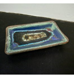 Dock 6 Pottery Straight Edge Small Rectangle Green