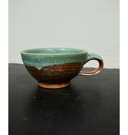 Dock 6 Pottery Soup Mug Green/Copper