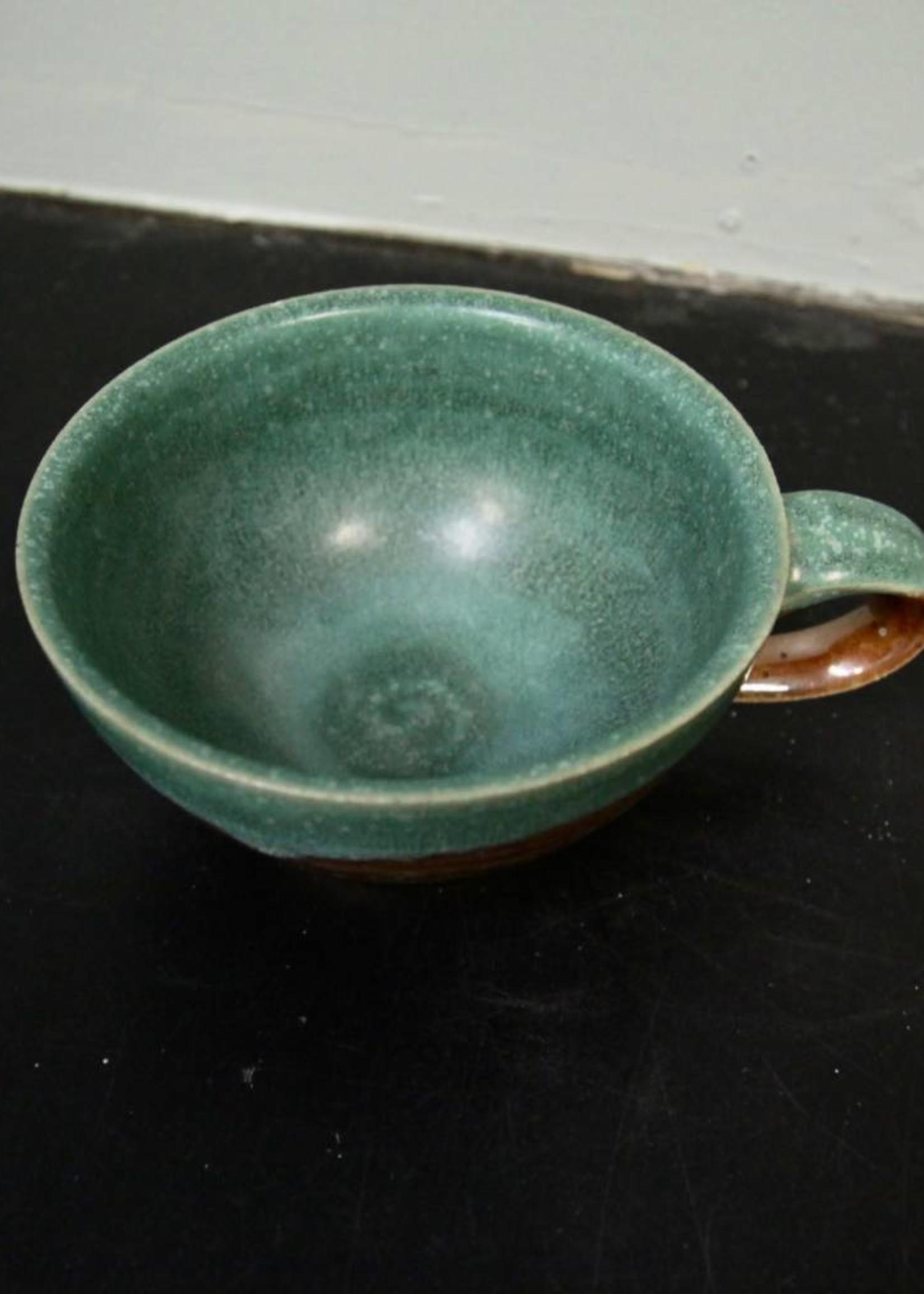 Dock 6 Pottery Soup Mug Green/Copper