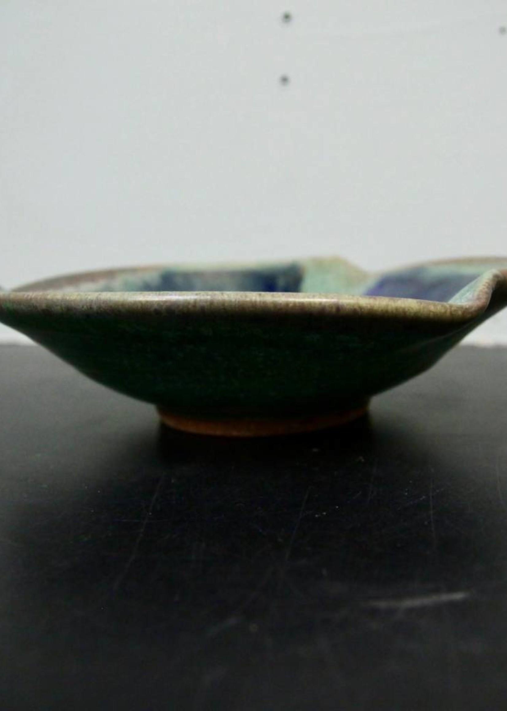 Dock 6 Pottery Medium Pinch Bowl Green