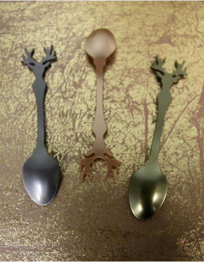 Sabre Flatware Deer Teaspoon, Dark Grey