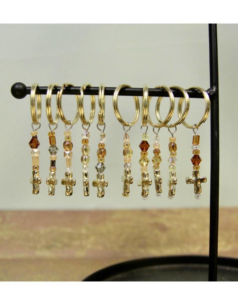 Wickman Gold Cross Keychain