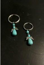 Turquoise Angel Keychain