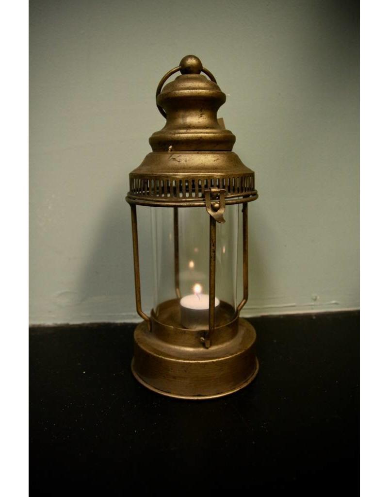 """raz 12.5"""" Round Glass Lantern"""