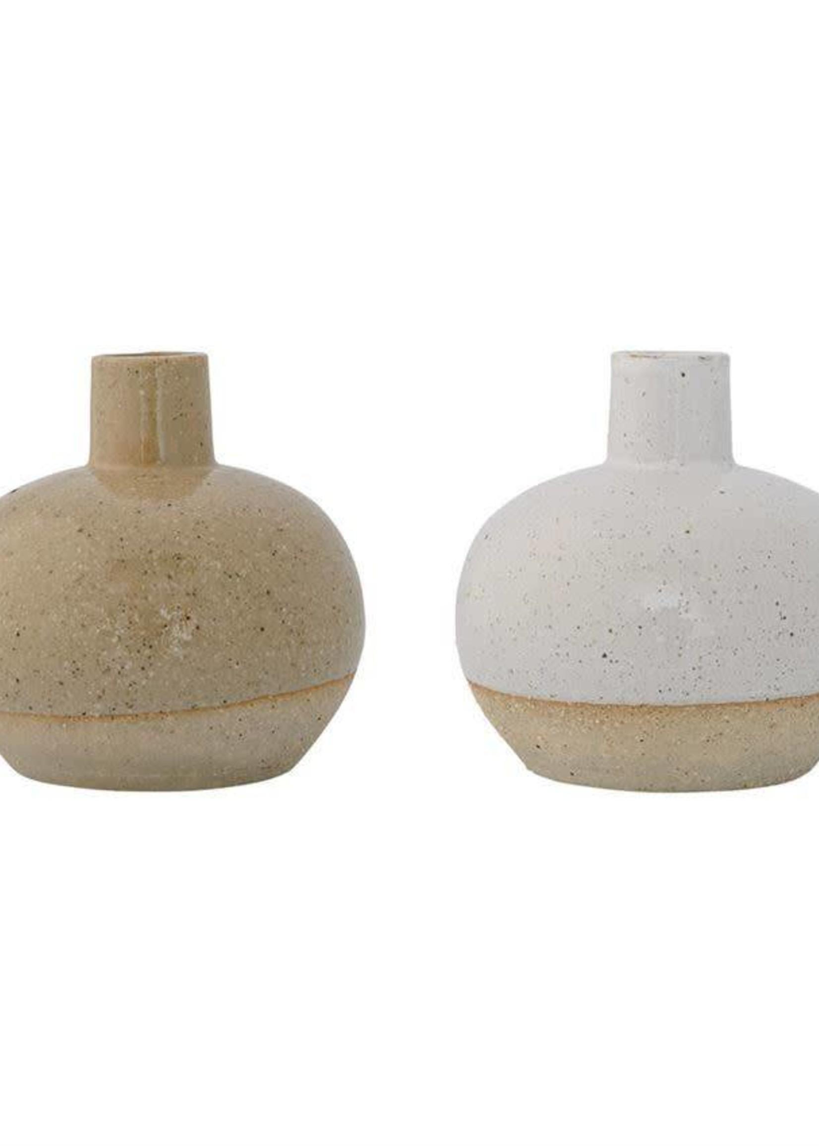 Vase w/ Sand Finish White