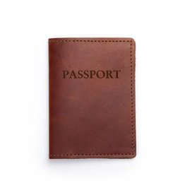 Leather Passport Cover Saddle