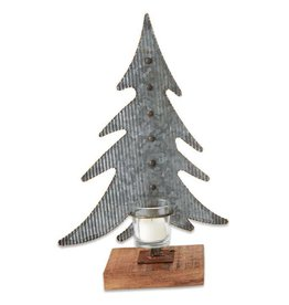Medium Tin Tree Votive Holder