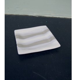 Alex Marshall Pottery Square B&B G&W Stripe