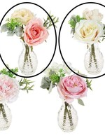 "10"" Mixed Floral Arrangement All White"