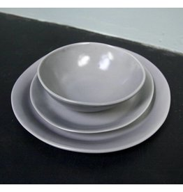 "Alex Marshall Pottery 11.25"" Slim Round Dinner Grey"