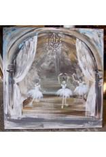 Pamela Harpour Ballerinas in Blue Original Art 20 x 20