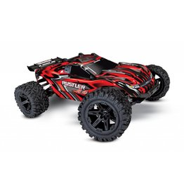 Traxxas 1/10 Rustler 4x4 Brushed (RED): No Battery, No Charger