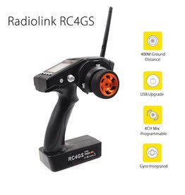 HobbyStar Radiolink RC6GS 6-Channel 2.4ghz Radio Transmitter With Integrated Gyro Receiver, FHSS