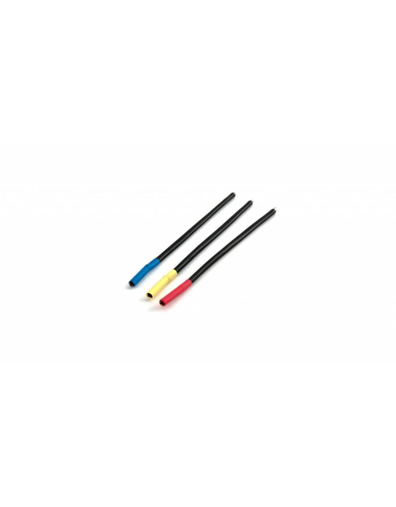 Dynamite BL Motor Wire Set, 4mm Bullet Conn, Female,Bl/Yel/Org (DYNC0138)