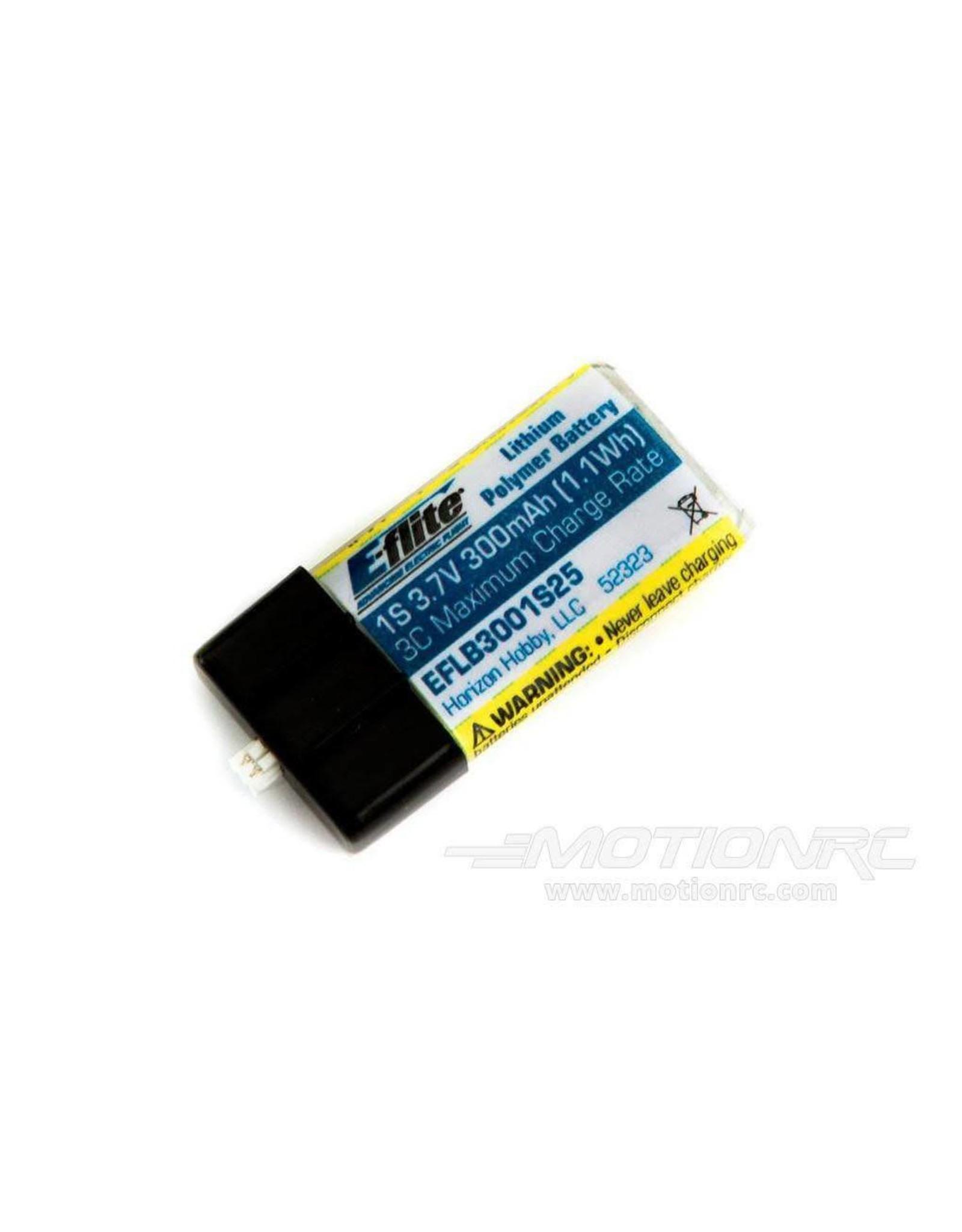 Eflite 300mAh 1S 3.7V 25C LiPo Battery  (EFLB3001S25)