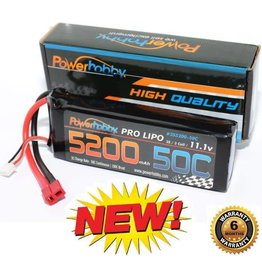 Power Hobby POWER HOBBY - 5200MAH 11.1V 3S 50C with XT90 (PHB3S520050CXT90)
