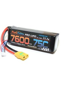 Power Hobby POWER HOBBY - 7600MAH 11.1V 3S 75C LIPO BATTERY WITH HARDWIRED XT90 CONNECTOR