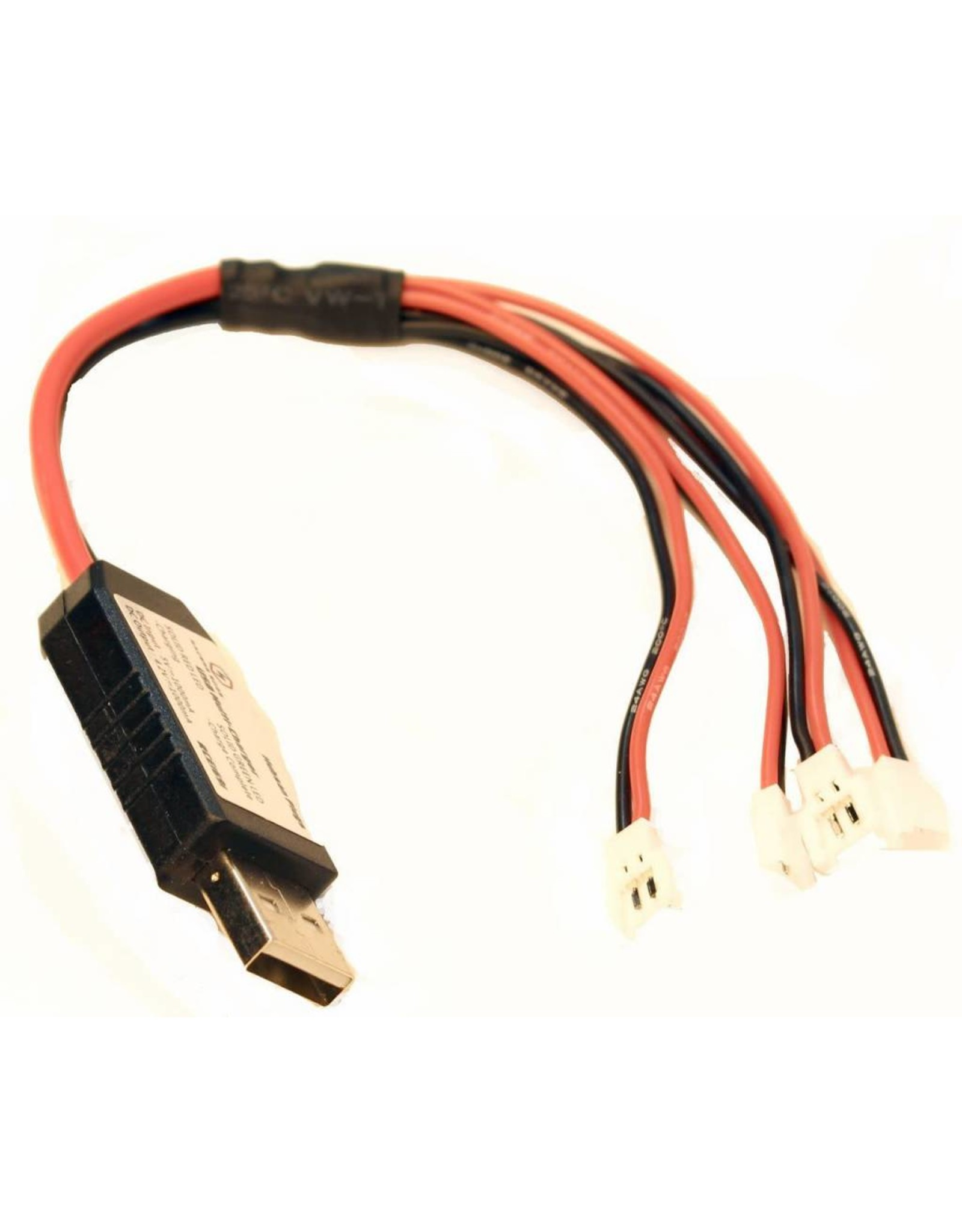 Racers Edge USB Multi-Charger for Charging Up To 4 1S Lipo Batteries at Once, Hubsan Connector (RCE1691)