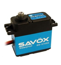 Savox Waterproof, HV, Brushless, Digital Servo .13s / 444oz @ 7.4V (SAVSW1210SG)