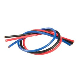 TQ Wire 13 Gauge Super Flexible Wire- 1' ea. Black, Red, Blue