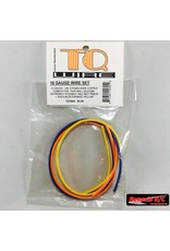 TQ Wire 16 Gauge Super Flexible Wire- 1' ea. Blue, Yellow, Orange  (TQ1604)