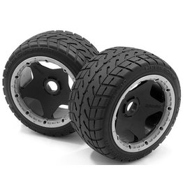 HPI HPI Mounted Tarmac Buster Rear Rib Tire M Compound Set