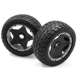 HPI HPI Mounted Tarmac Buster Front Rib Tire M Compound Set