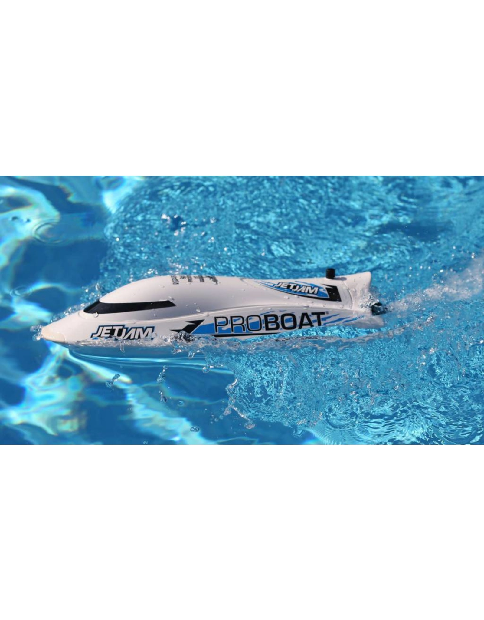 Pro Boat Jet Jam 12-inch Pool Racer, White: RTR