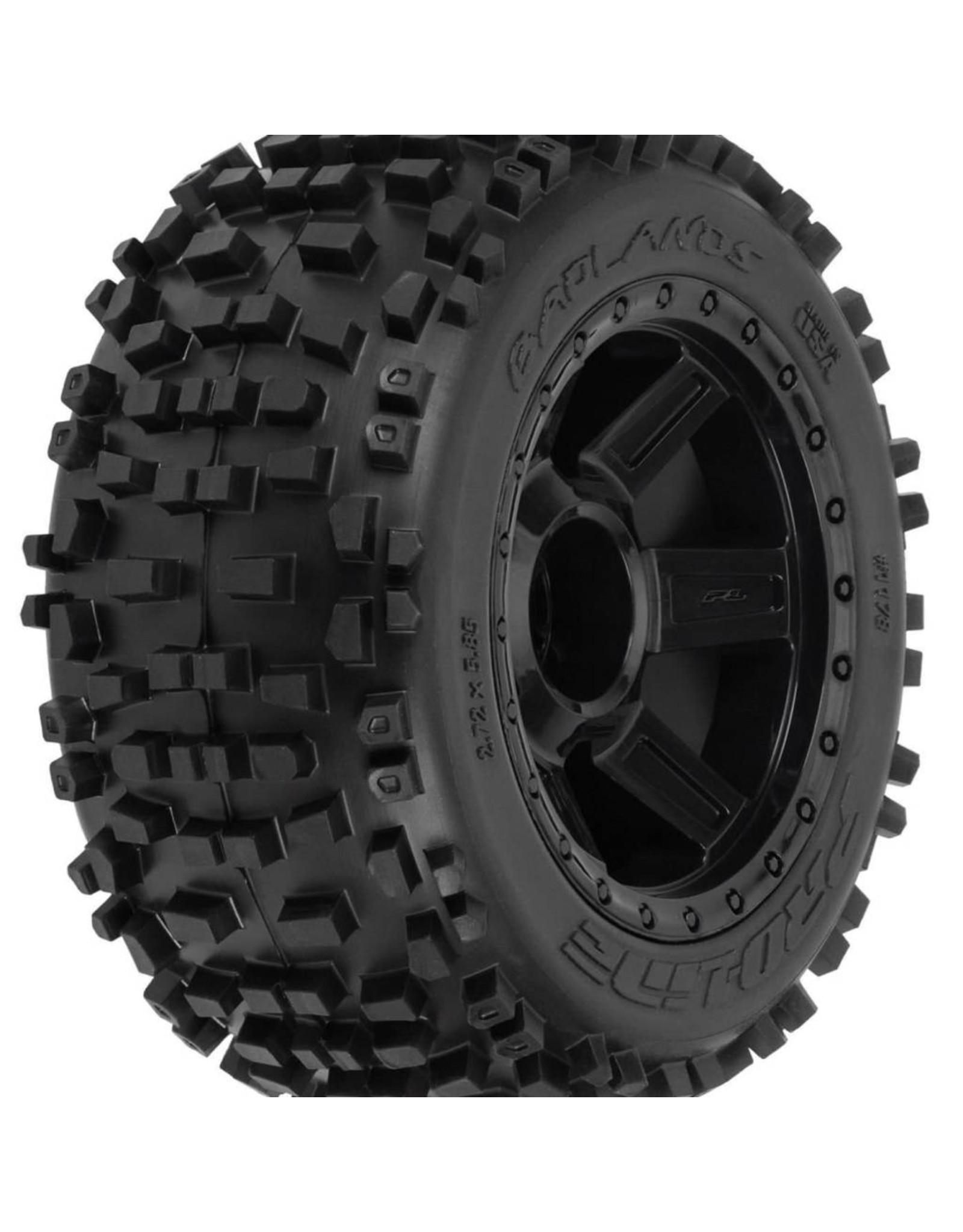 Pro-Line Racing Badlands 3.8 TRA Mnt Desperado 1/2Off 17mmWhl,Blk (117811)