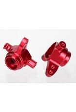 Traxxas Alum Steering Blocks (L&R), Red: SLH 4x4, Stamp 4x4  (6837R)