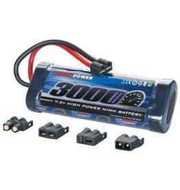 Venom Power 6-Cell 7.2V 3000mAh NiMH Flat Battery: UNI Plug  (VNR1532)