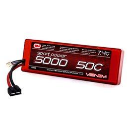 Venom Power Sport Power 7.4V 5000mAh 50C 2S LiPo, ROAR: UNI Plug (VNR15058)